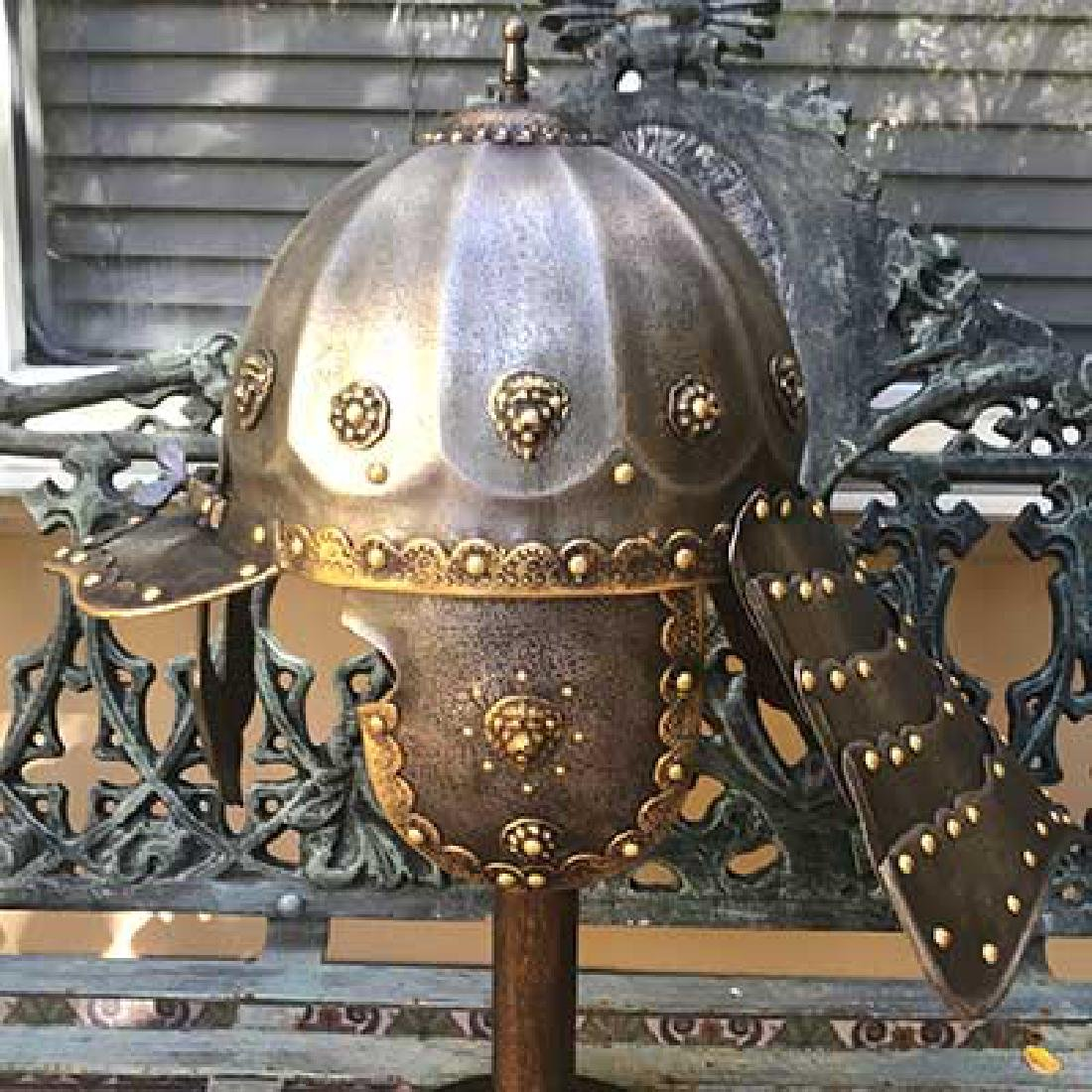 Highly Decorated Polish Zischagge / Lobstertail Helmet