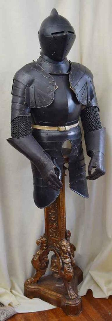 SWISS THREE QUARTER SUIT OF ARMOR CIRCA 1570-1600 FROM