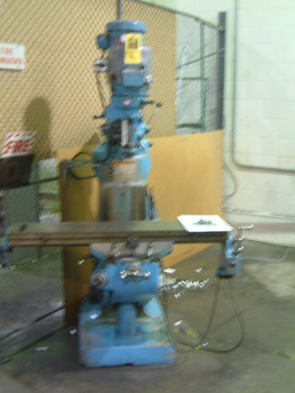 2: Bridgeport Vertical Mill, 2HP 9x42 table, vari-speed