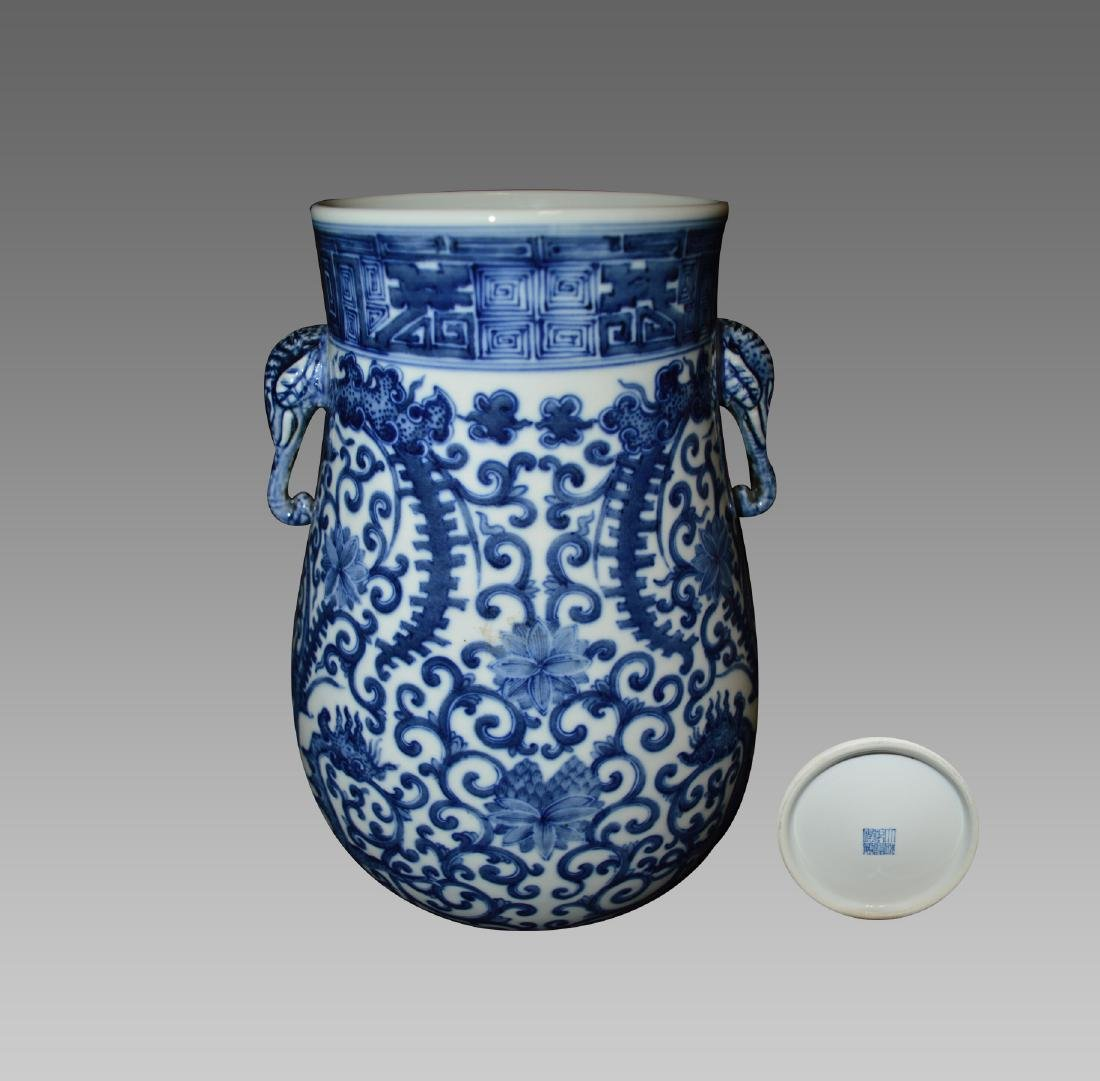 A BLUE AND WHITE BRANCHES EPHRAIM VASE