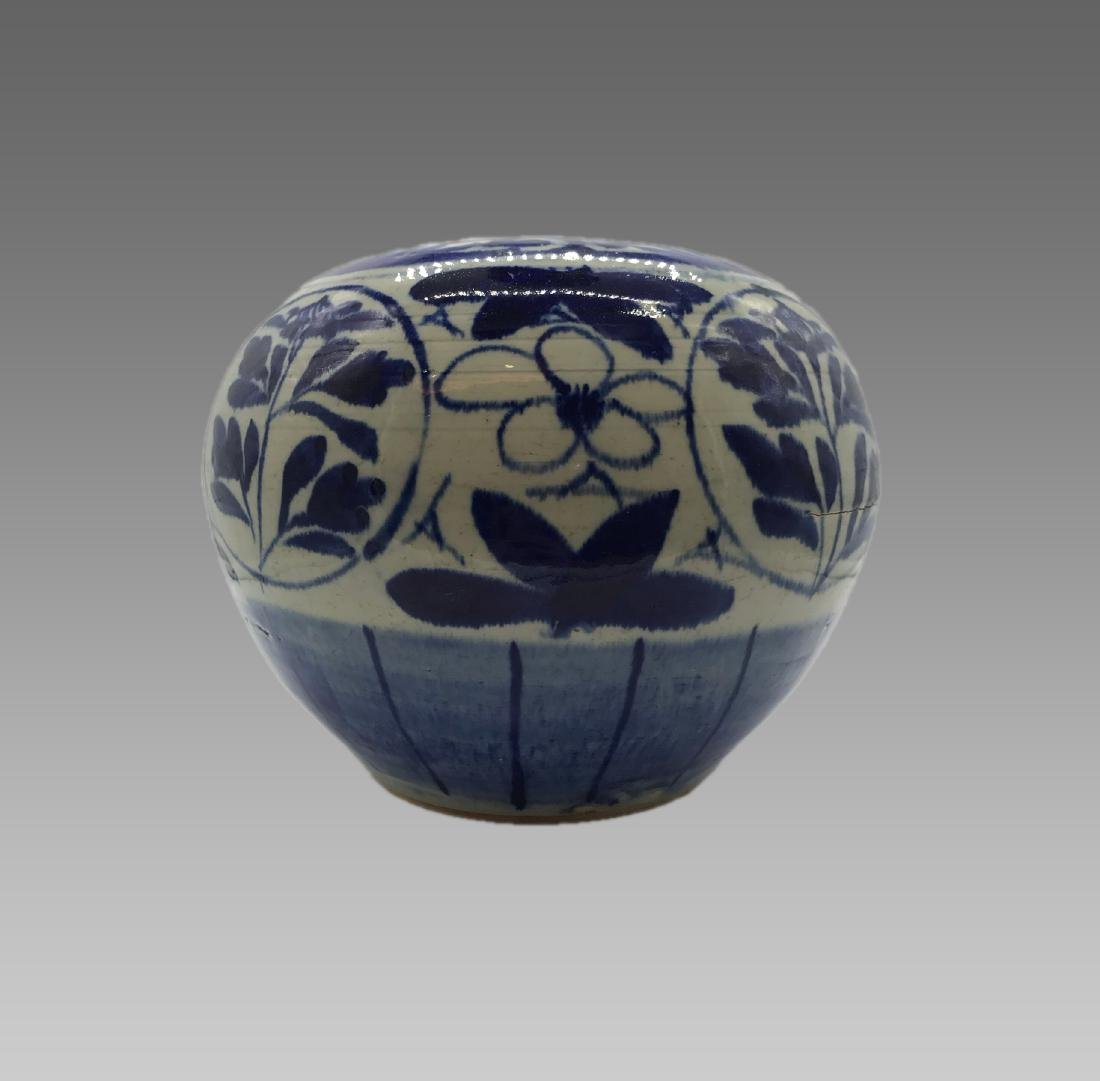 JIAQING CHINESE BLUE AND WHITE PORCELAIN JAR