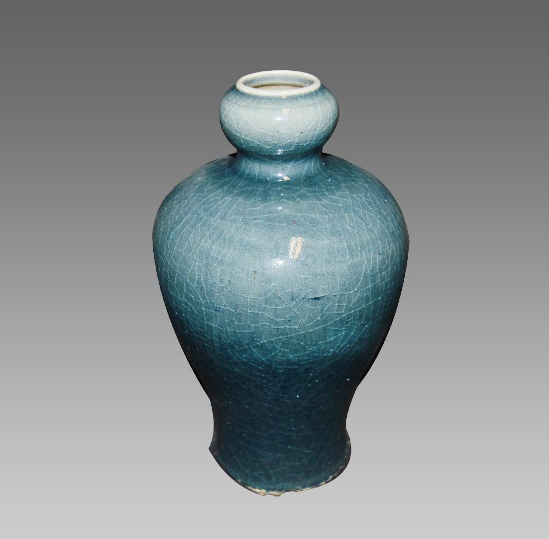 A GREEN GLAZE MEIPING