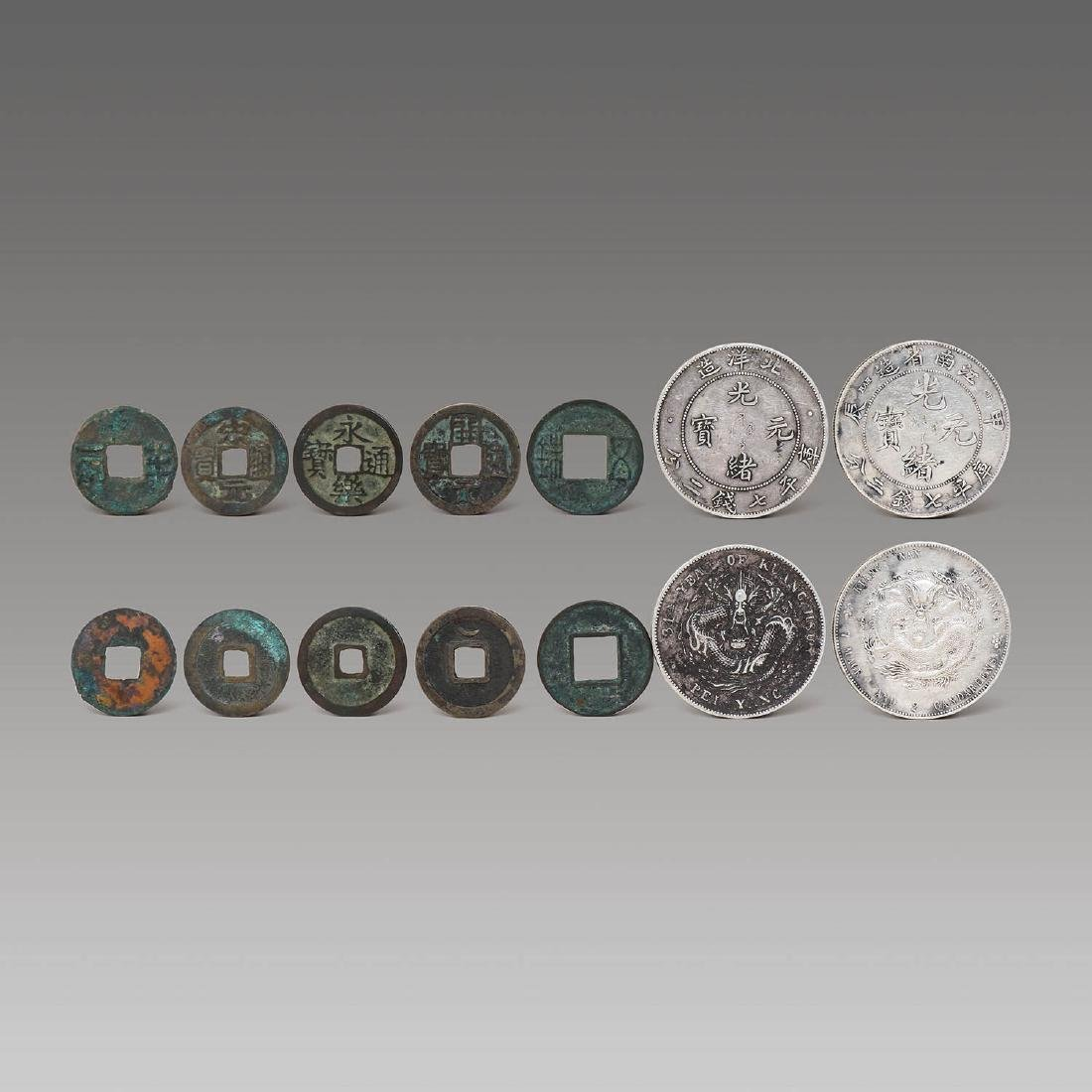 GROUP OF CHINESE OLD COINS