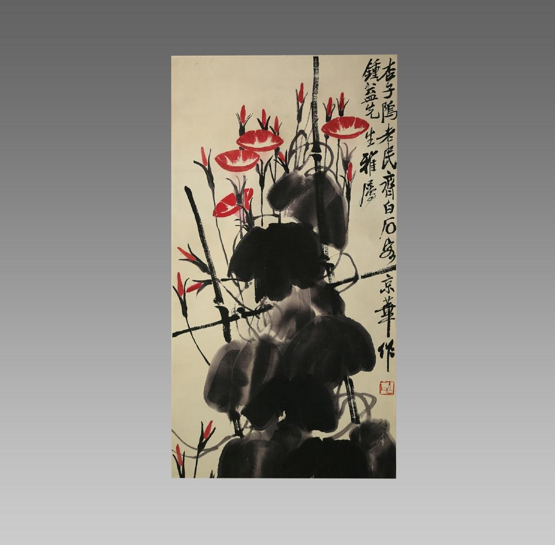QI BAISHI'S FLOWER AND BIRD PAINTING