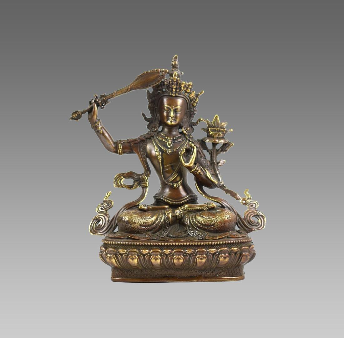 GILT SEATED BUDDHA STATUE