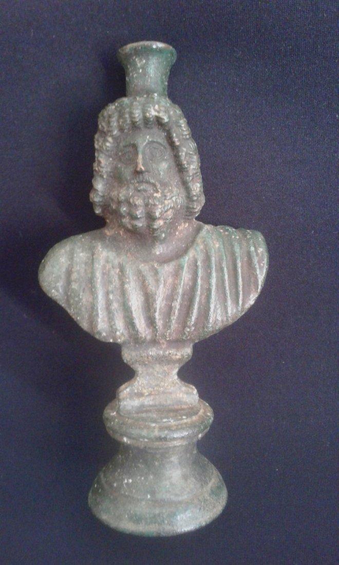 Bronze Statue Serapis 15,5cm.
