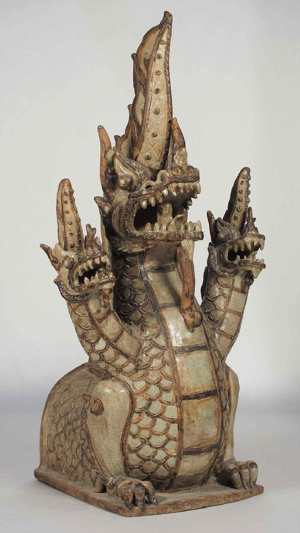 Three-Heads Dragon Roof Finial, Sukhothai.