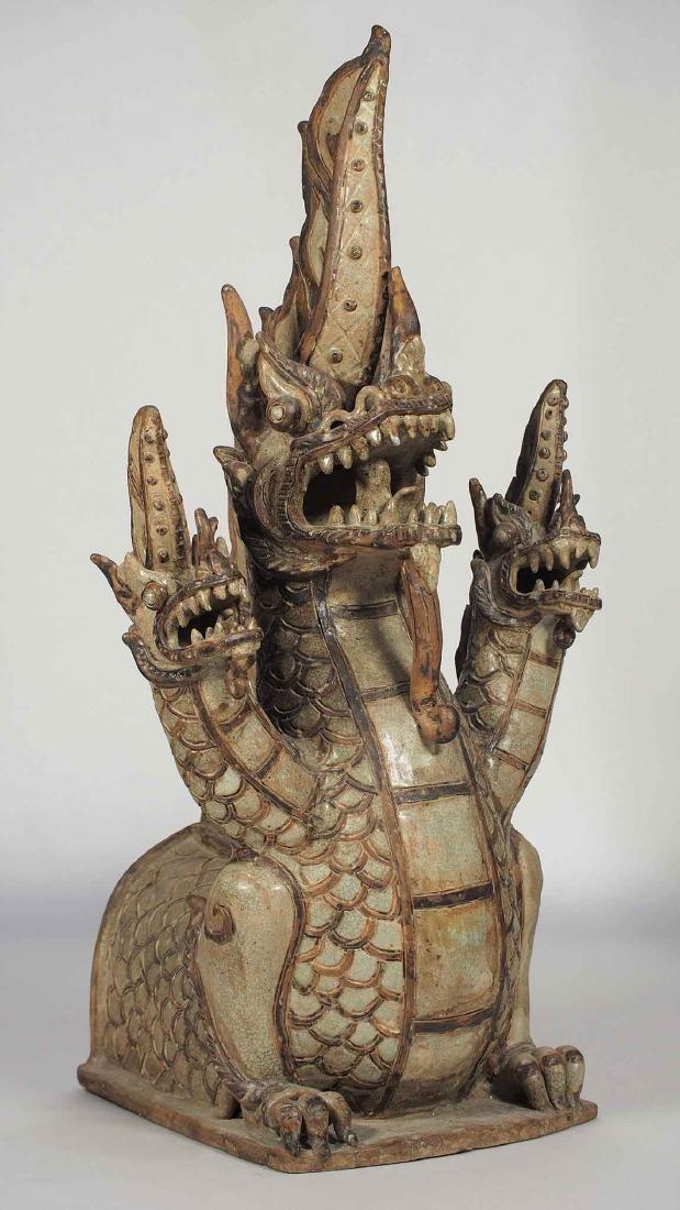 Three-Heads Dragon Roof Finial, Sukhothai.