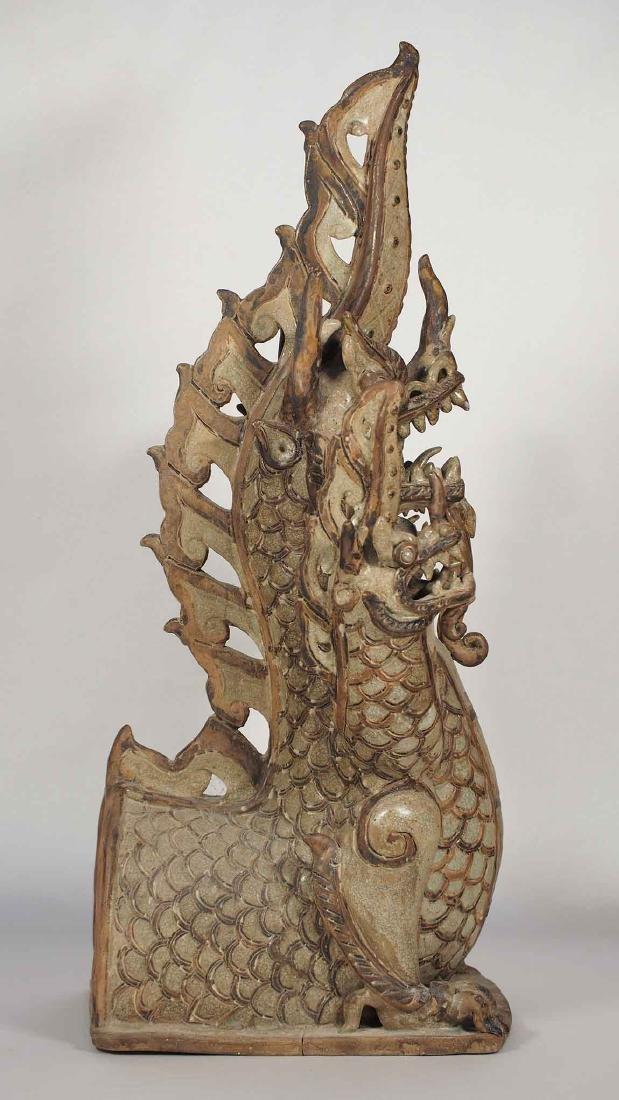Three-Heads Dragon Roof Finial, Sukhothai. - 3
