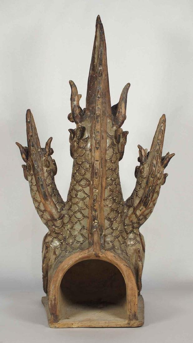 Three-Heads Dragon Roof Finial, Sukhothai. - 4