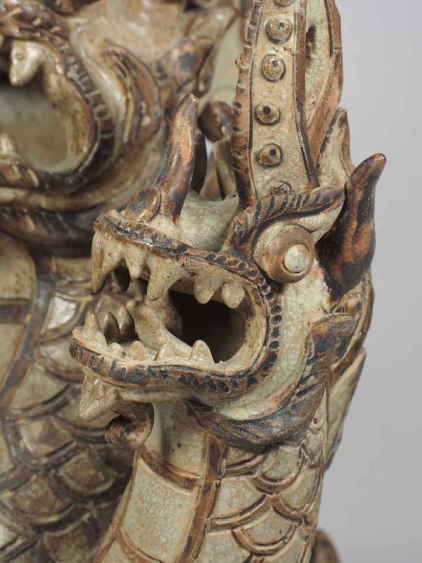 Three-Heads Dragon Roof Finial, Sukhothai. - 6