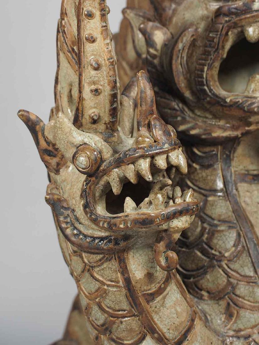 Three-Heads Dragon Roof Finial, Sukhothai. - 7
