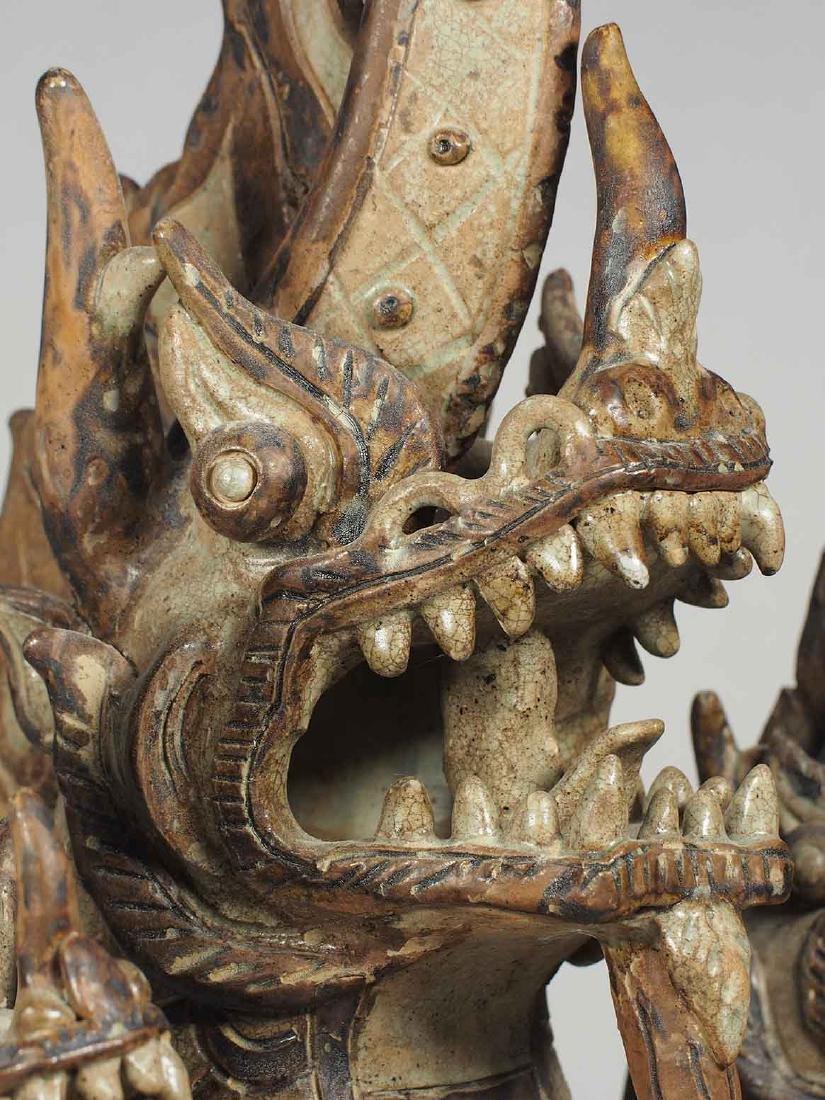 Three-Heads Dragon Roof Finial, Sukhothai. - 8