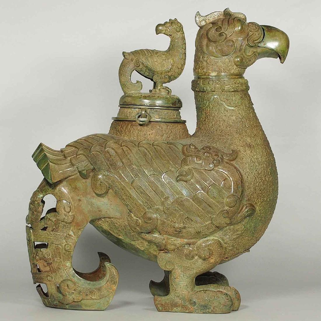 Bronze Garuda 'Zun' with Serpent Wing, Spring Autumn