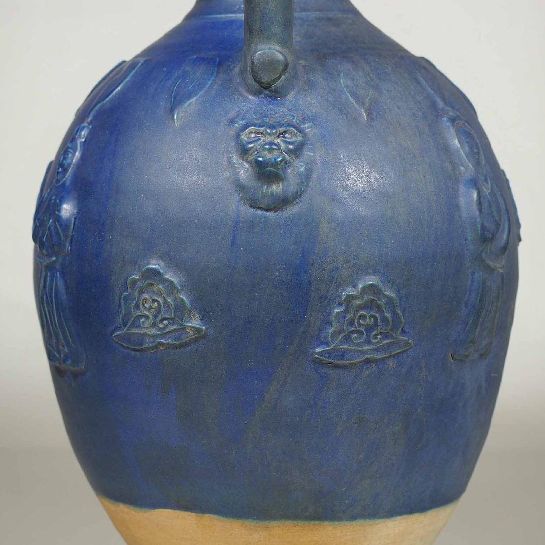 Blue Glaze Amphora-form Vase, late Tang Dynasty - 6