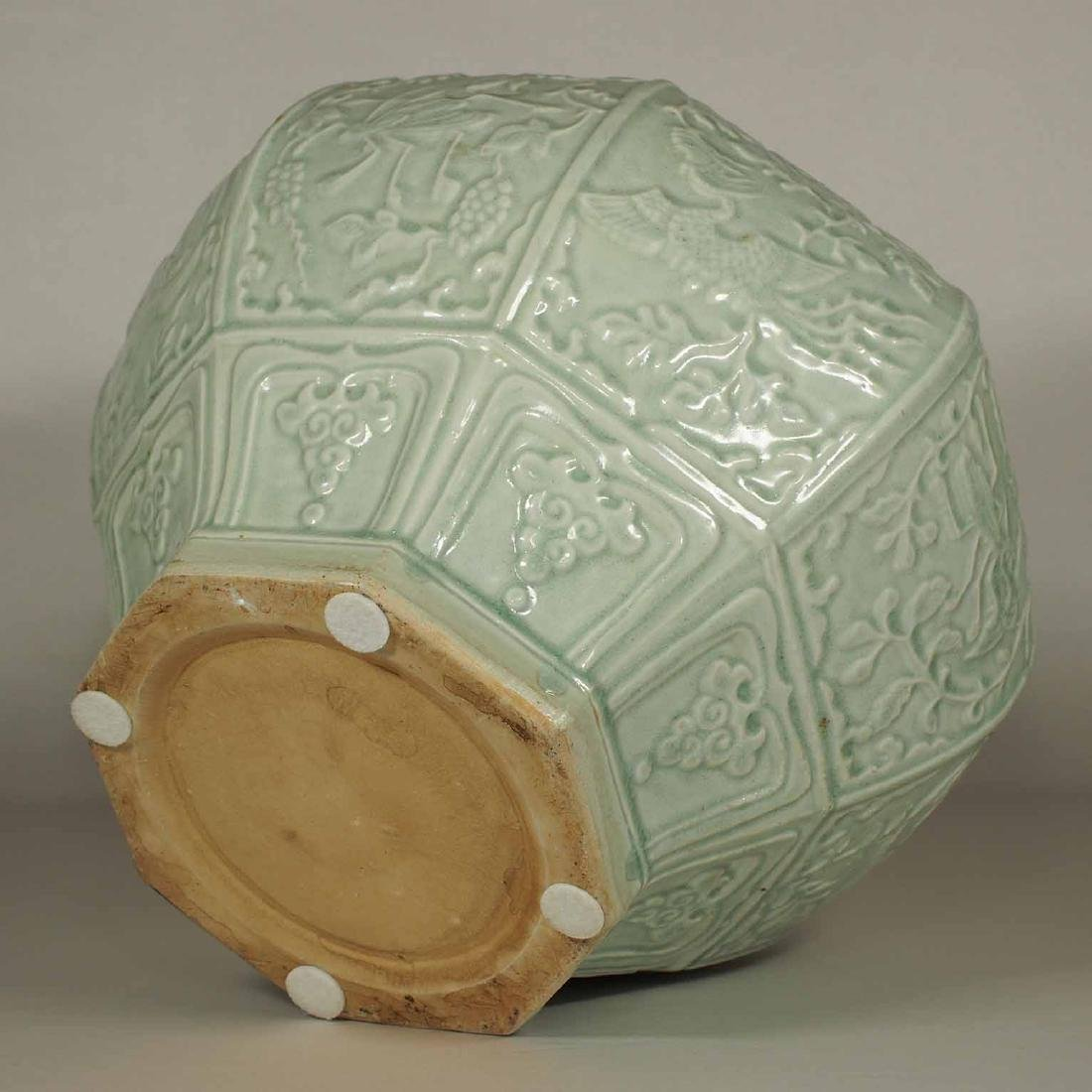 (TL) Octagonal Lidded Jar, late Yuan-early Ming Dynasty - 10