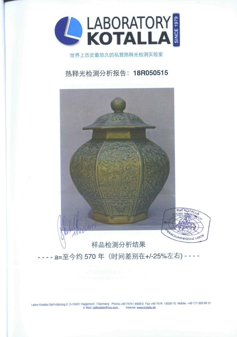 (TL) Octagonal Lidded Jar, late Yuan-early Ming Dynasty - 15