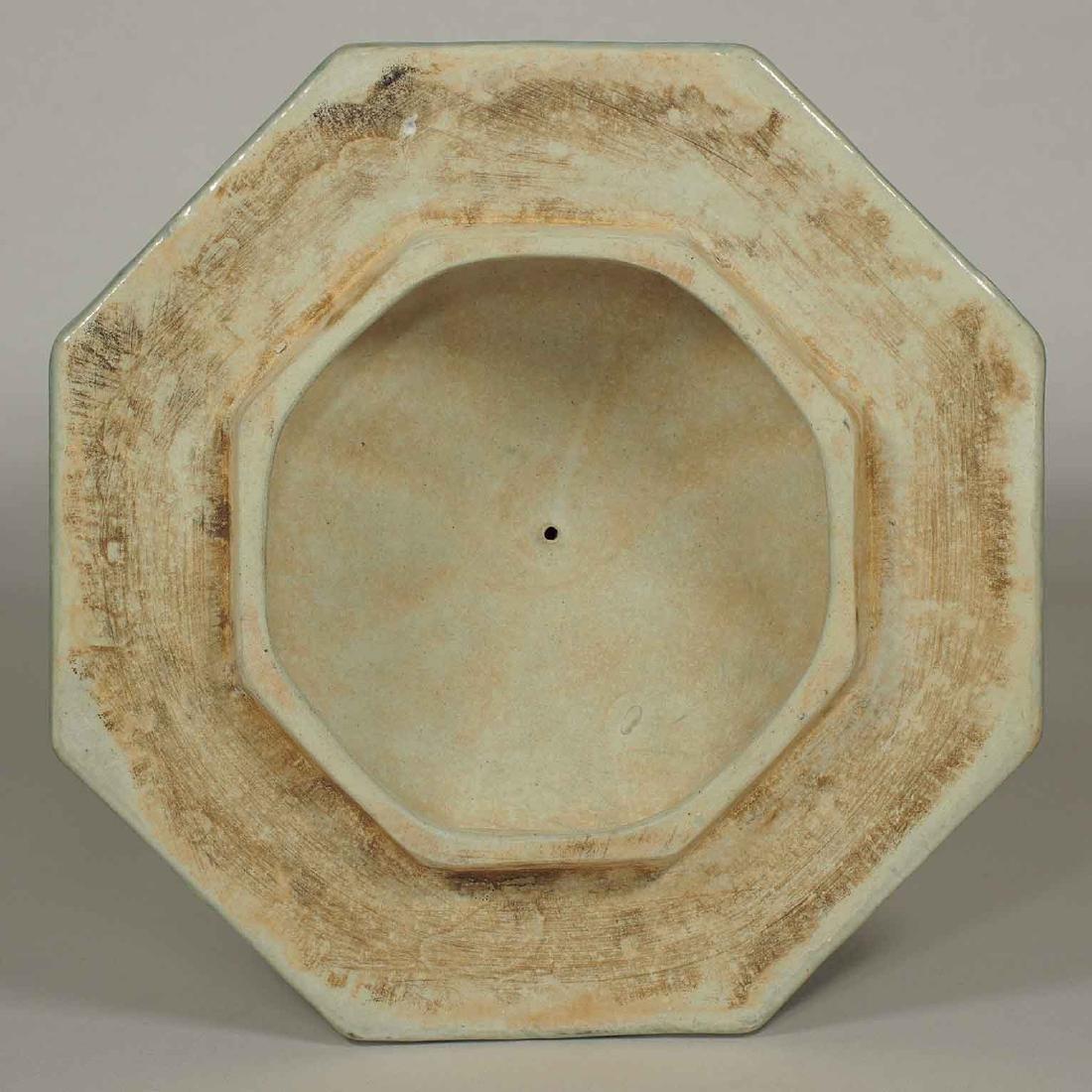 (TL) Octagonal Lidded Jar, late Yuan-early Ming Dynasty - 7