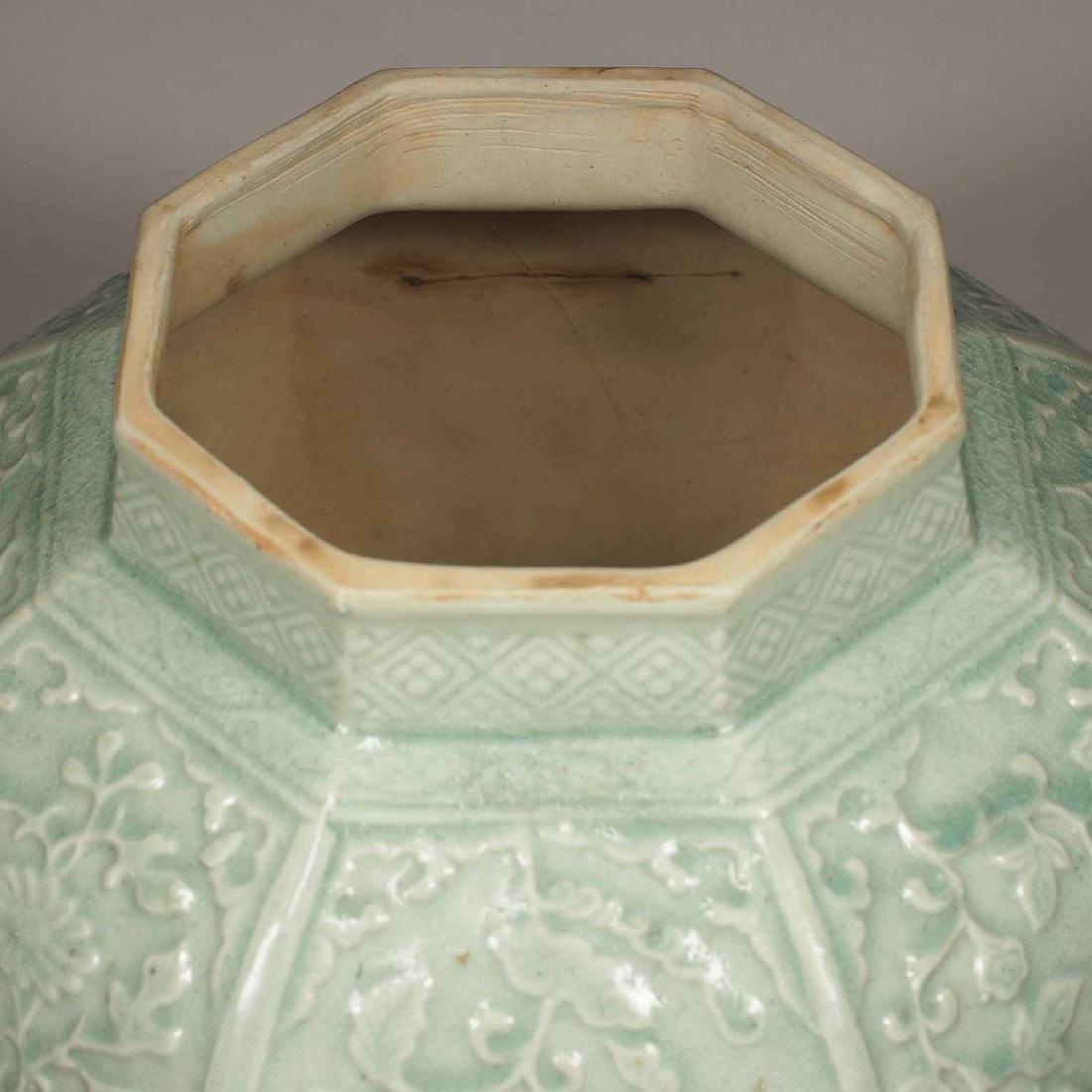(TL) Octagonal Lidded Jar, late Yuan-early Ming Dynasty - 9