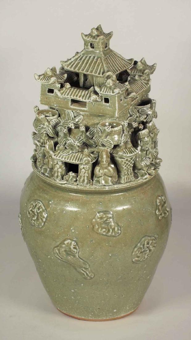 Yue Hunping Funerary Urn, Western Jin Dynasty