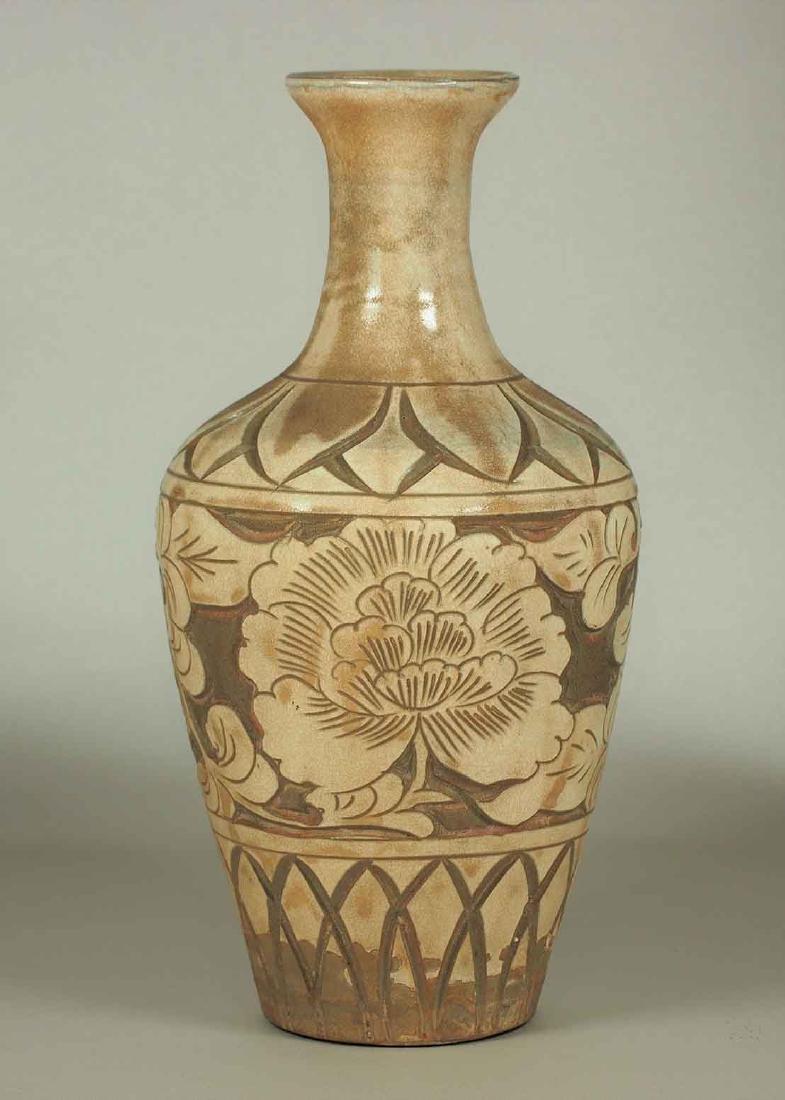 Cizhou Vase with Sgraffito Peony, Yuan Dynasty - 3
