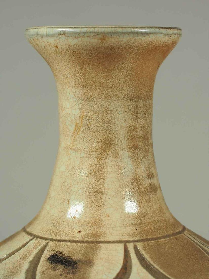 Cizhou Vase with Sgraffito Peony, Yuan Dynasty - 5