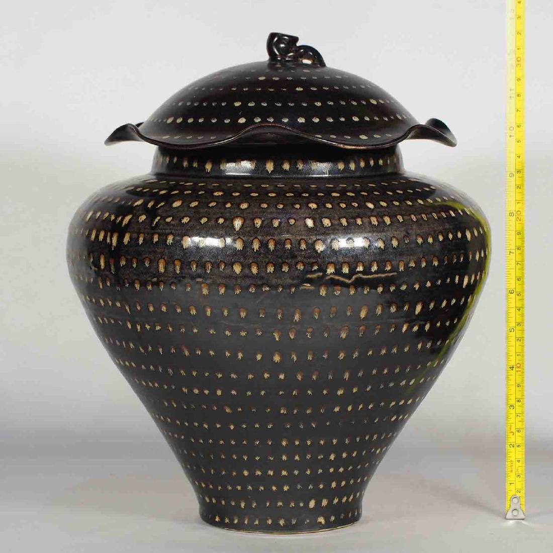 Jizhou Dotted Jar with Lid, Southern Song Dynasty - 11
