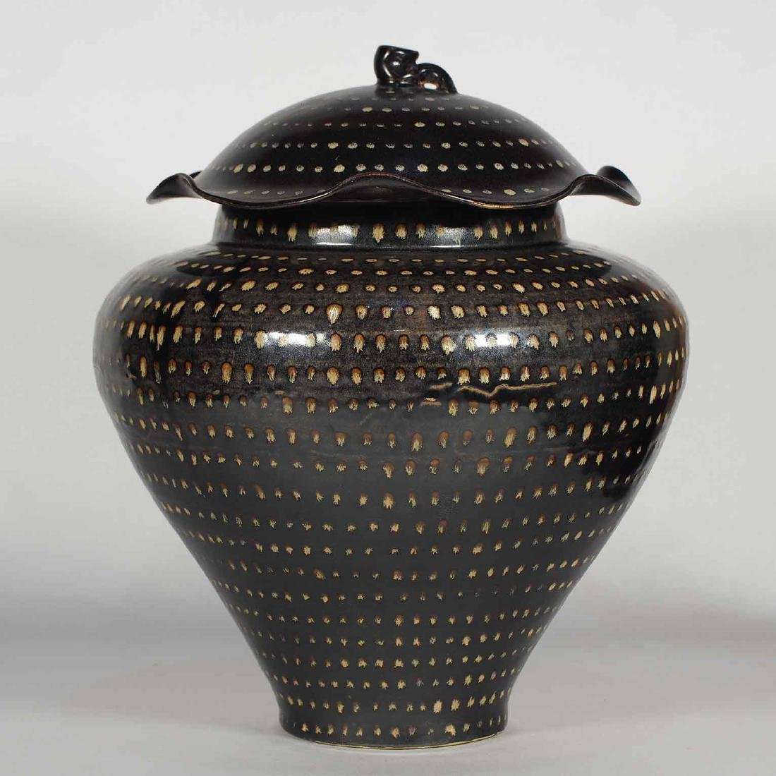 Jizhou Dotted Jar with Lid, Southern Song Dynasty