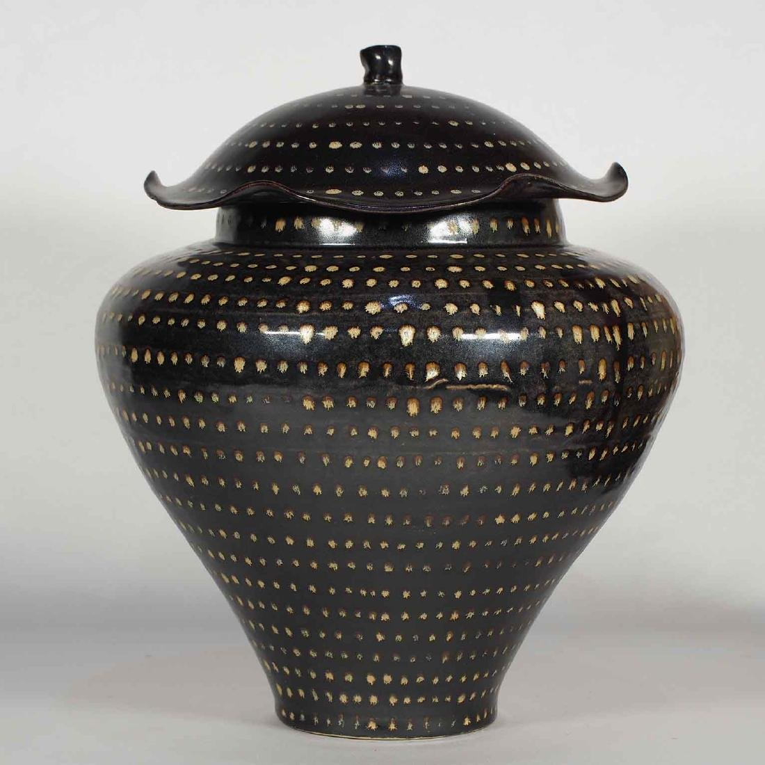 Jizhou Dotted Jar with Lid, Southern Song Dynasty - 2