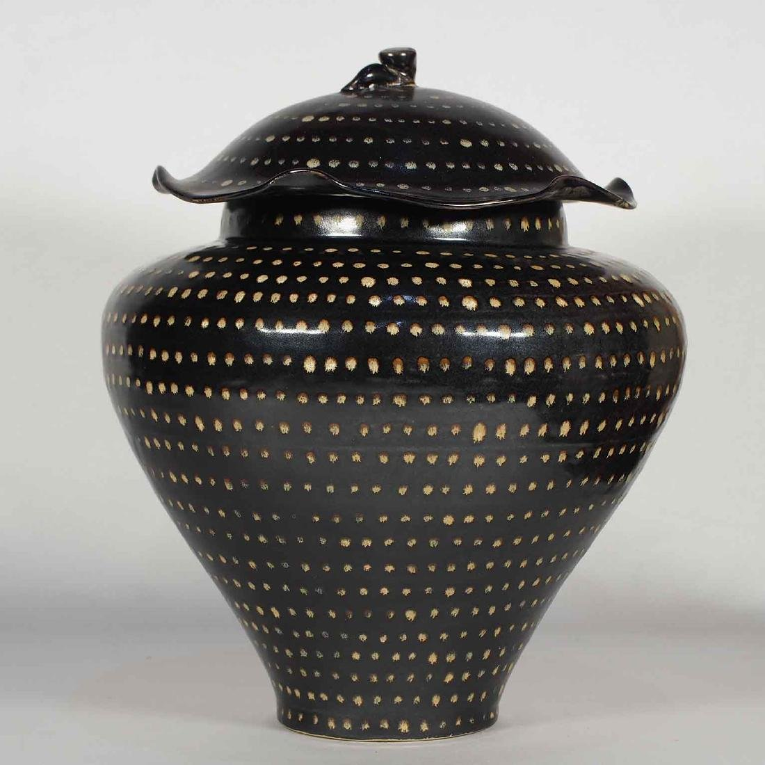 Jizhou Dotted Jar with Lid, Southern Song Dynasty - 3