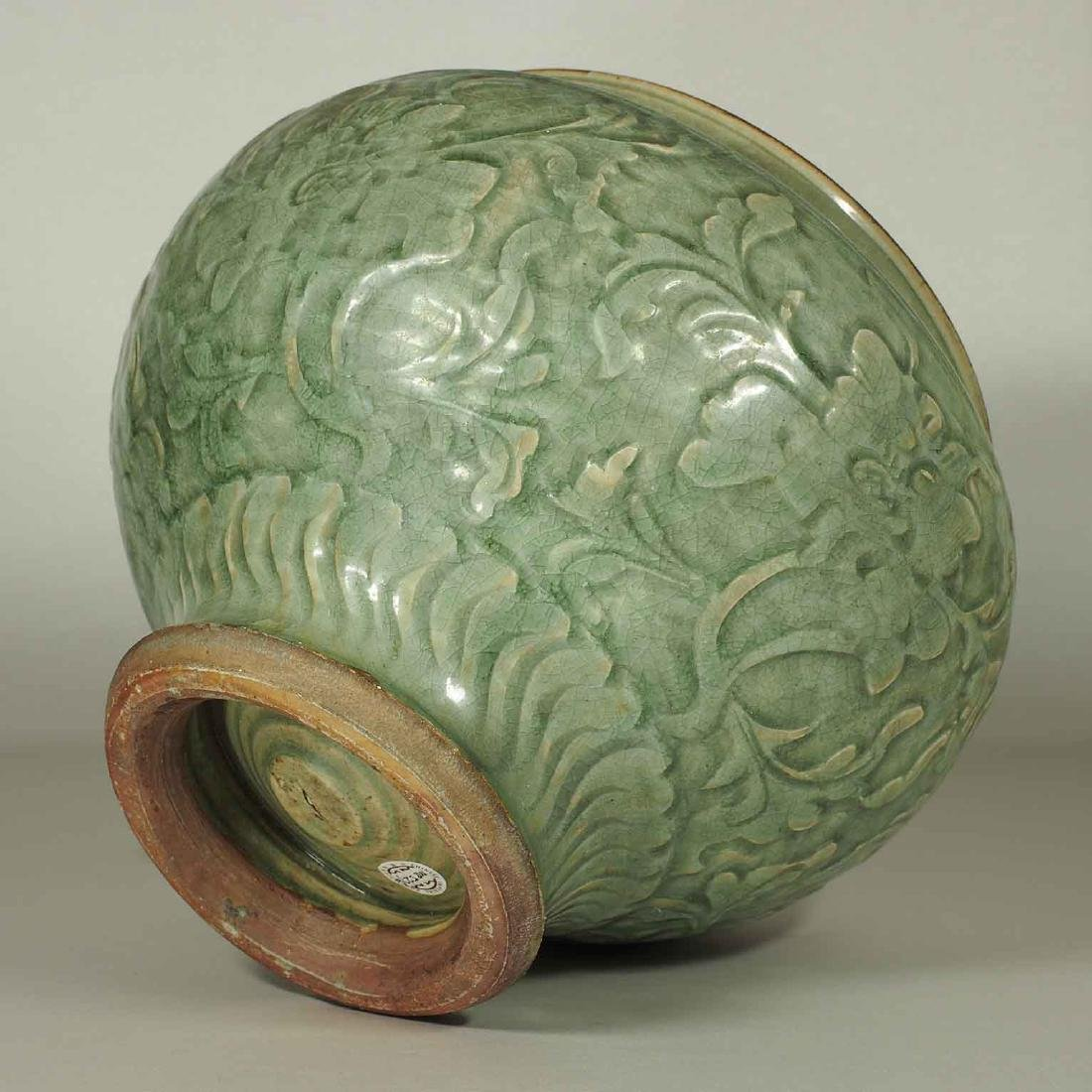 Large Longquan Lidded Jar with Carved Peony. Early Yuan - 9