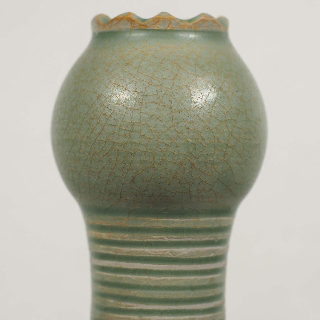 Yaozhou Garlic-Head Vase, Five Dynasty - 5