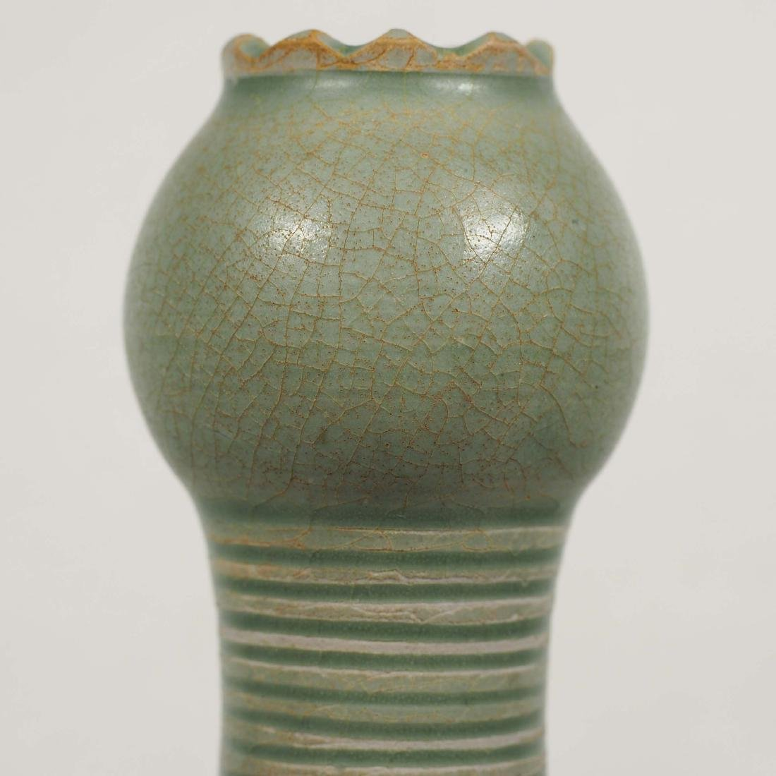Yaozhou Garlic-Head Vase, Five Dynasty - 5