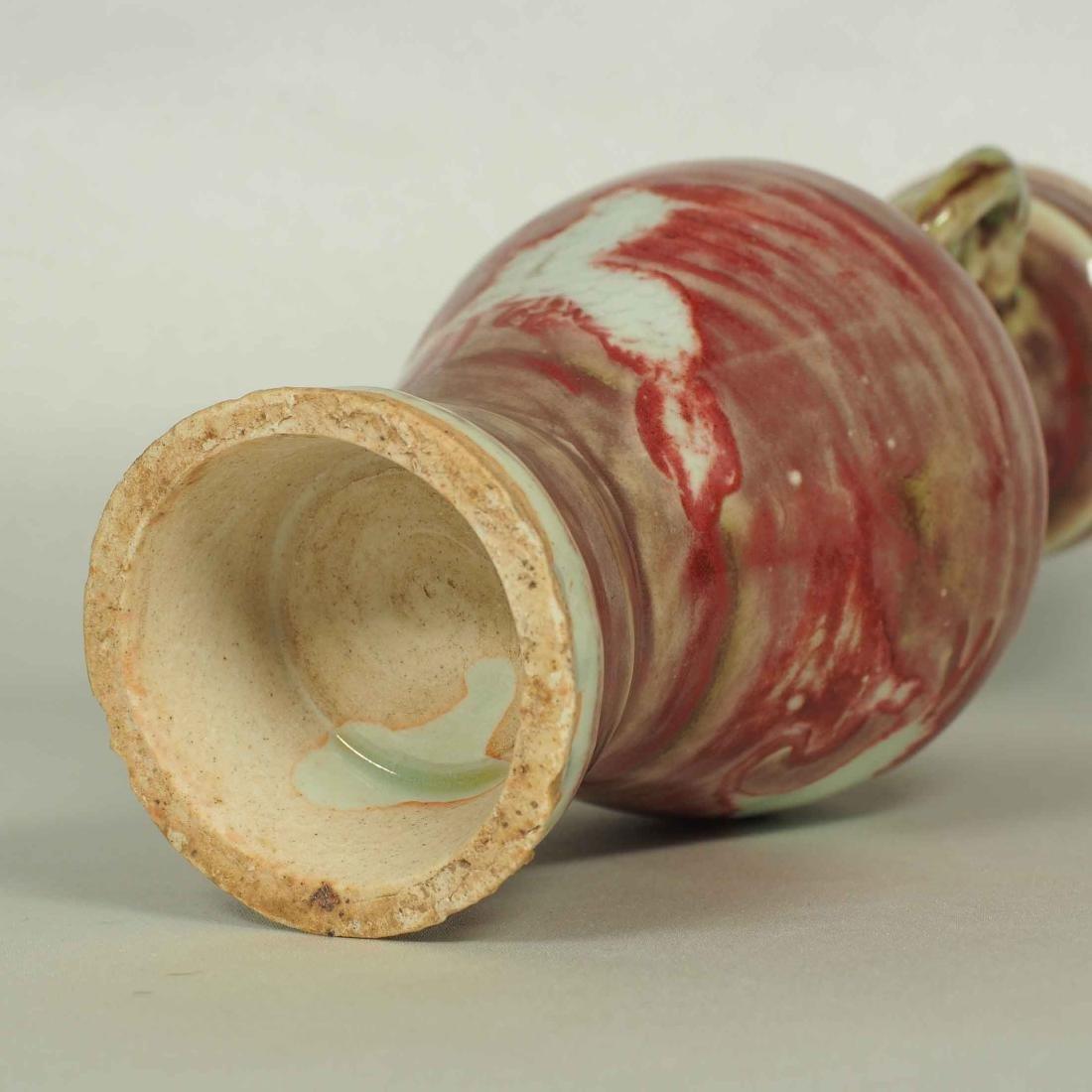 Vase with Elephant Handle and Phoenix Design, Yuan - 6