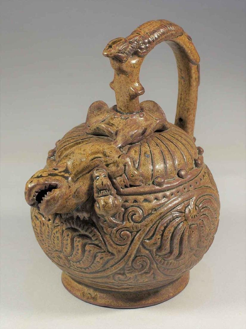 Celadon Reverse-Flow Ewer with Qilin Spout, Eastern