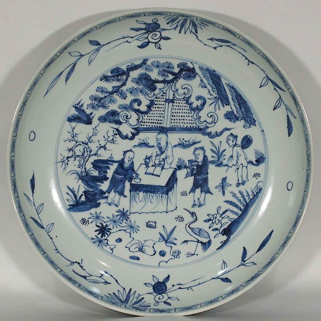 Massive Charger with Figures Design, Wanli Mark, Ming