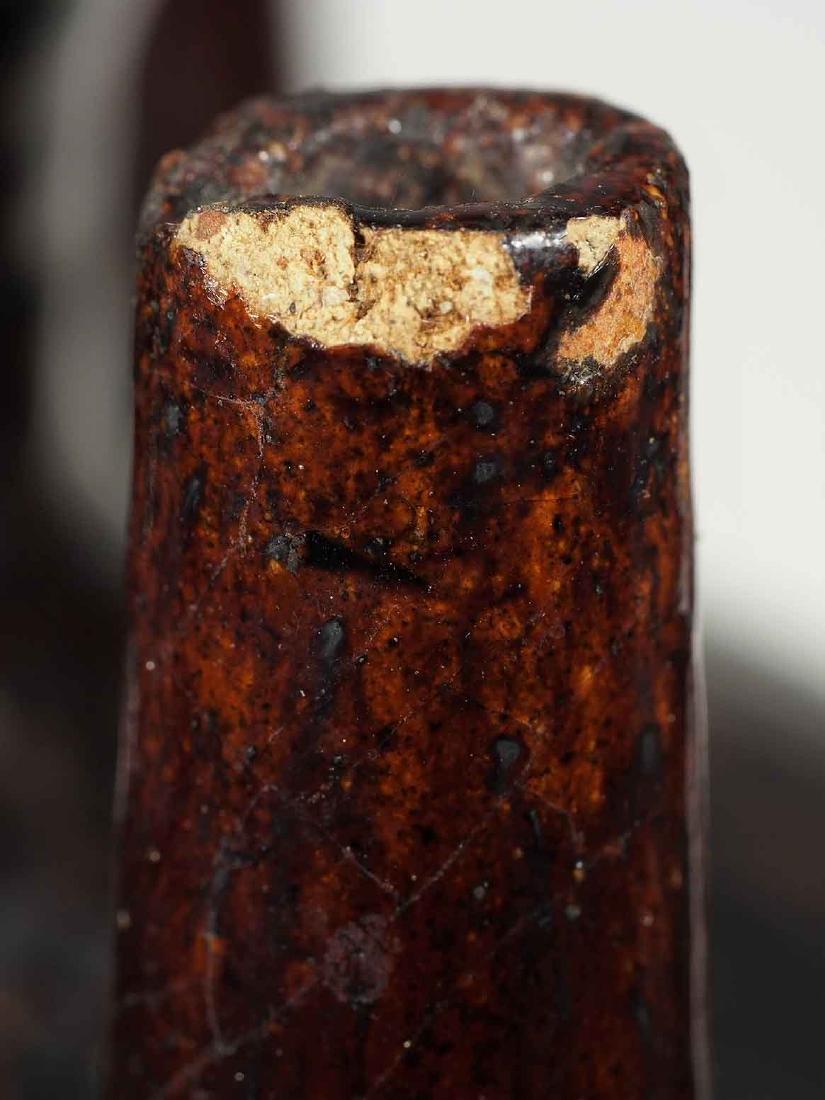 Black Glaze vessel, Song Dynasty. Globular Five Tubes - 6