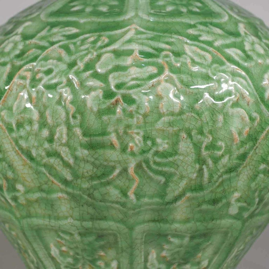 Massive Octagonal Longquan Double Gourd, early Ming - 6