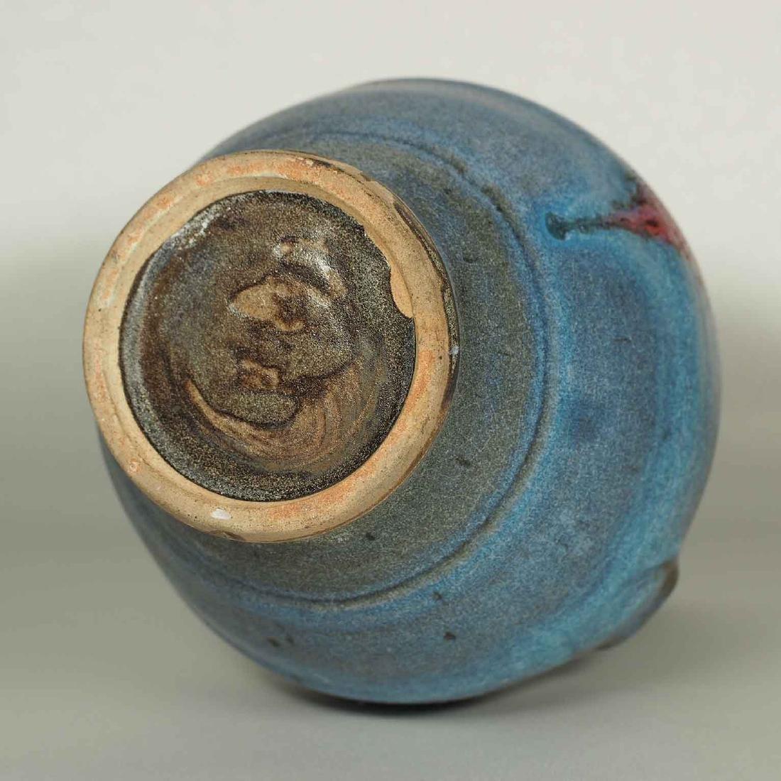 Jun Hu-Form Vase with Lion-head Handles, Jin-Song - 8