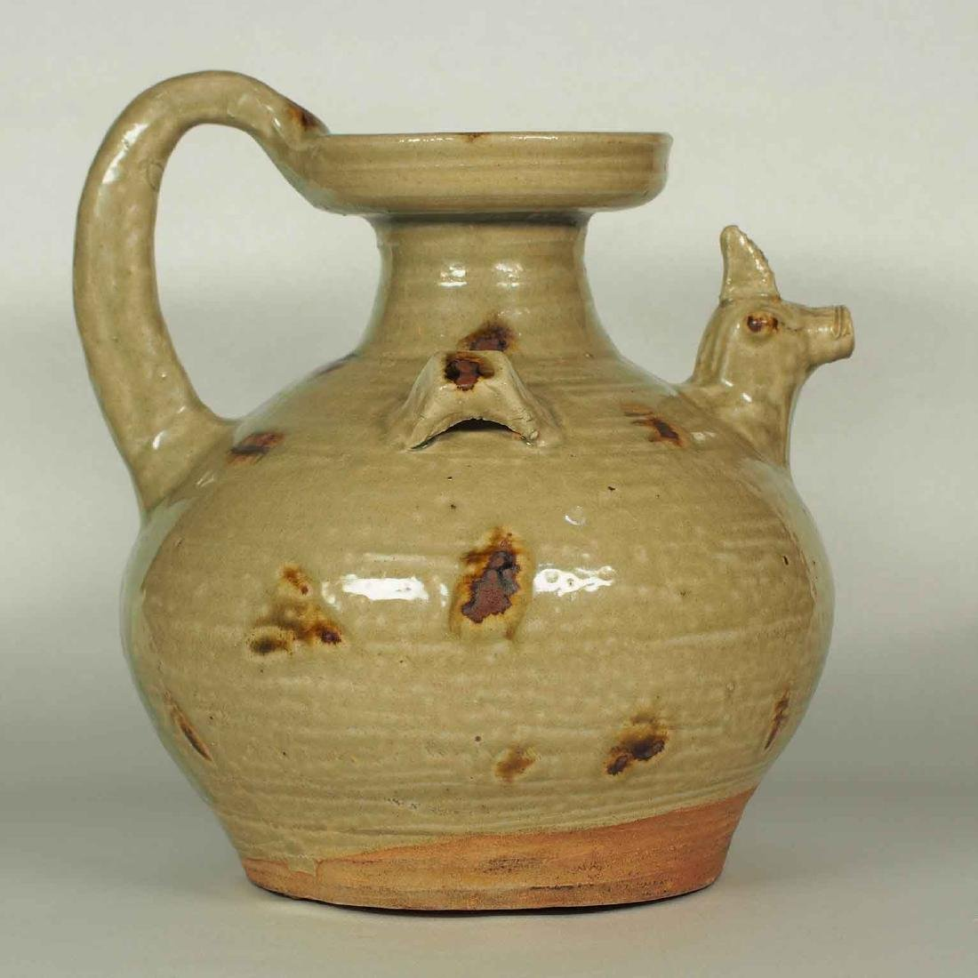 Yue Chicken-Head Spout Ewer with Brown Spots, Eastern