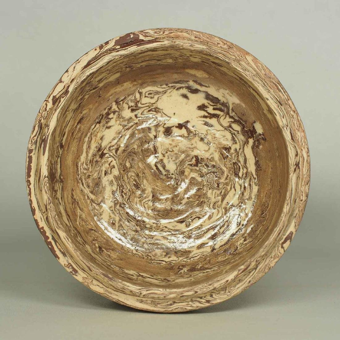 Twisted Marble-Glaze Lidded Box - 7