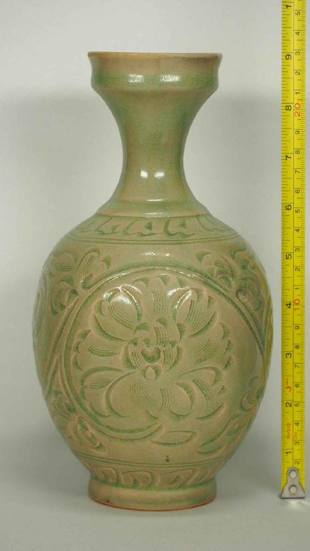 Yaozhou Vase with Carved Peony Scroll, Song Dynasty - 11