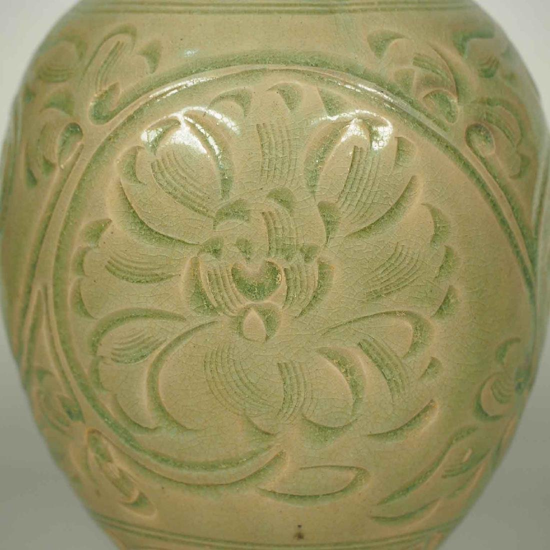 Yaozhou Vase with Carved Peony Scroll, Song Dynasty - 6