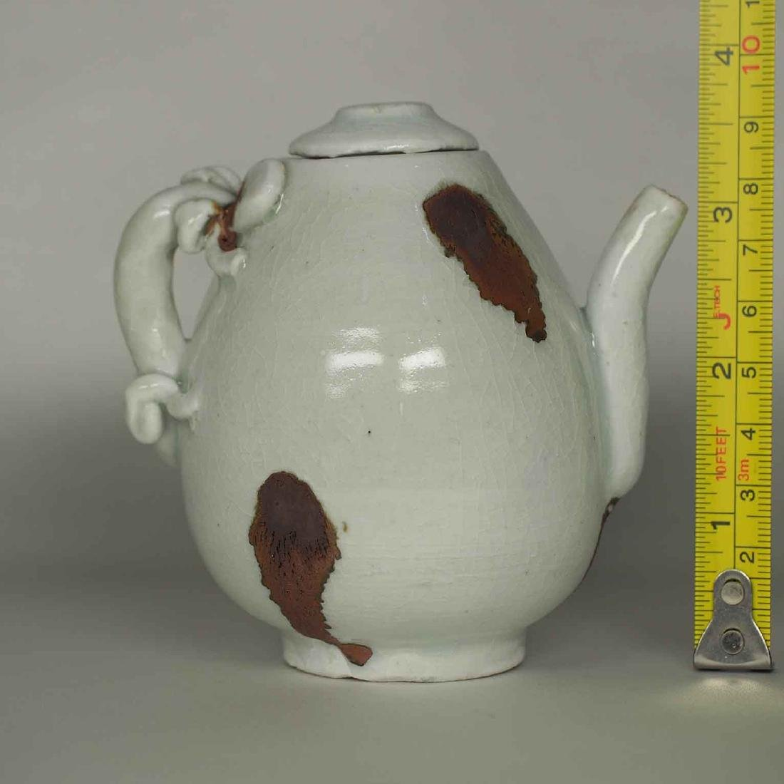 Ewer with Dragon Handle and Brown Spots, Yuan Dynasty - 10