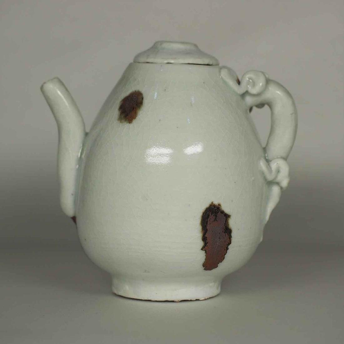 Ewer with Dragon Handle and Brown Spots, Yuan Dynasty - 3