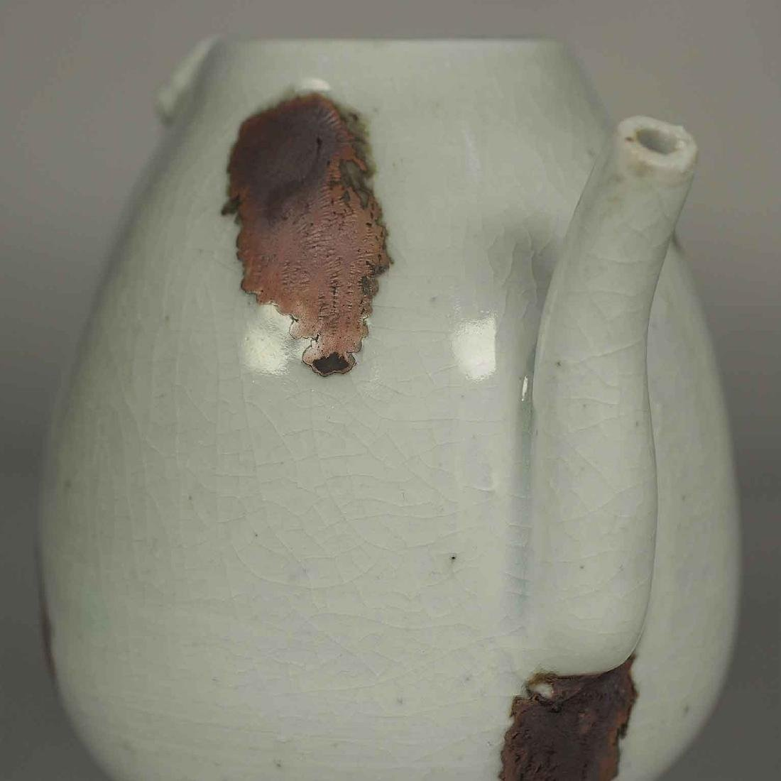 Ewer with Dragon Handle and Brown Spots, Yuan Dynasty - 7