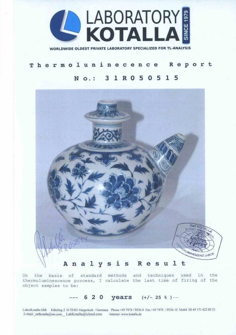 (TL) Kendi with Peony, Yongle, Ming Dynasty + TL - 11