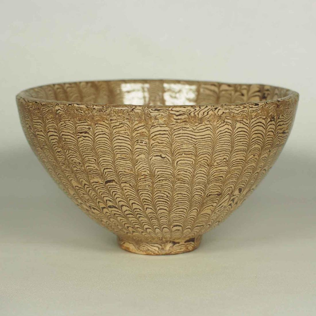 Twisted Marble-Glaze Bowl