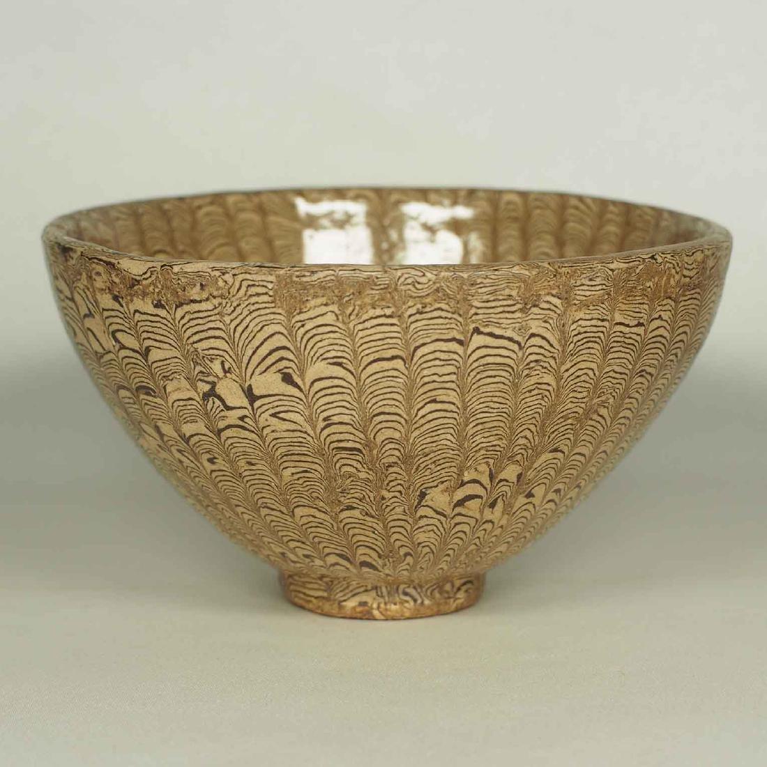 Twisted Marble-Glaze Bowl - 2