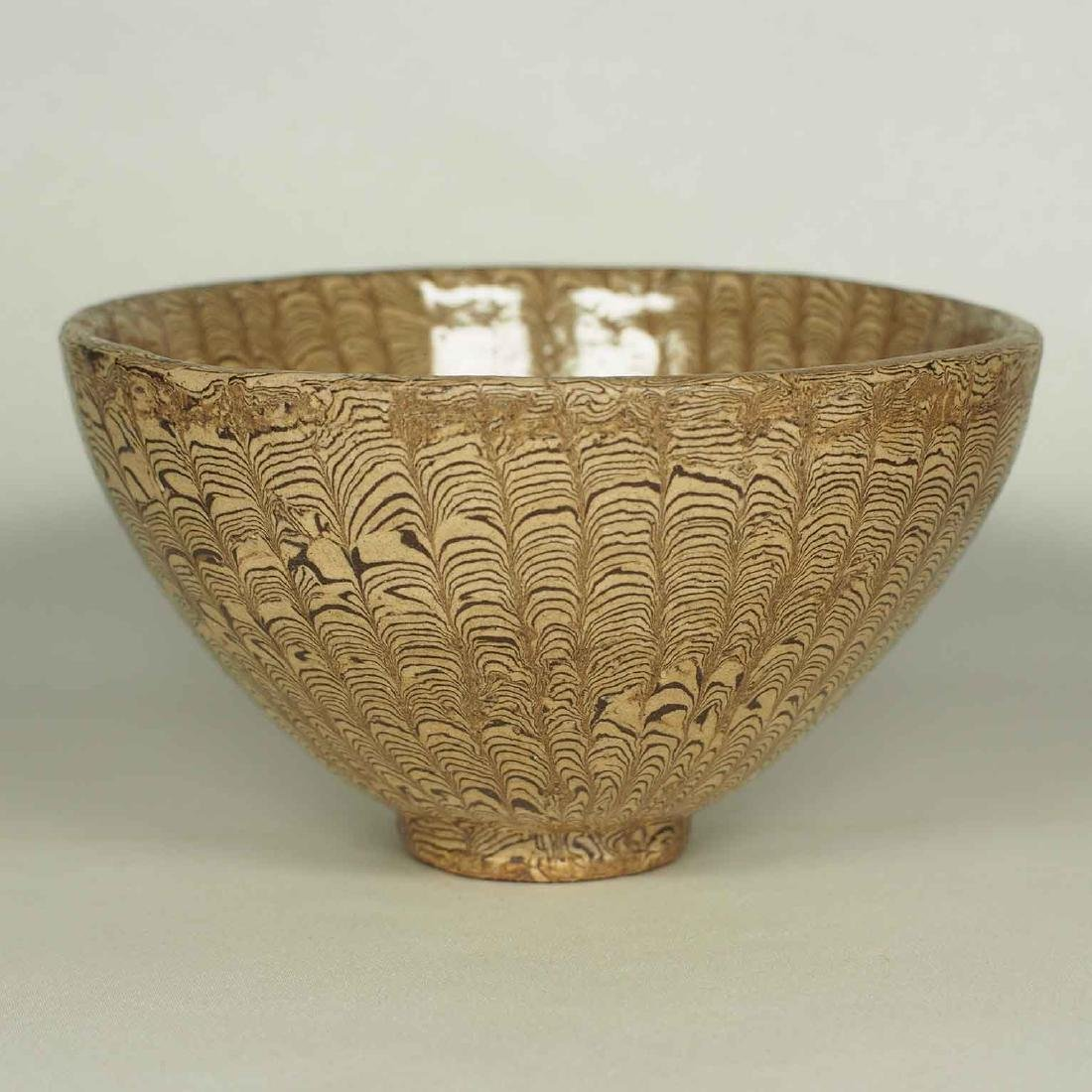Twisted Marble-Glaze Bowl - 2
